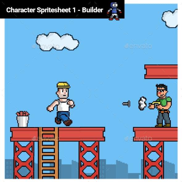 Pixel Character Spritesheet 1 - Builder