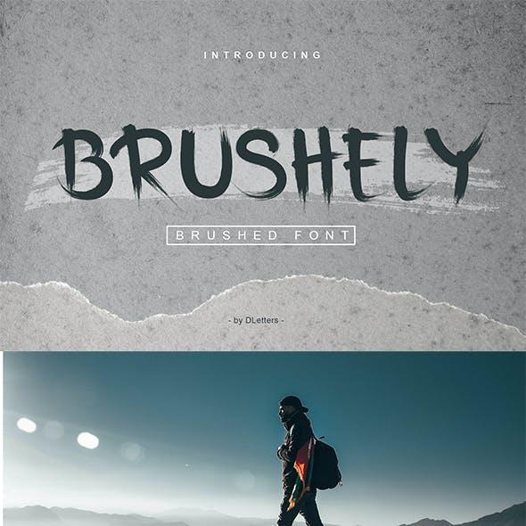 Brushely | Hand Brush Font