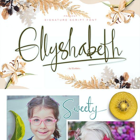 Ellyshabeth | Modern Signature Script Font