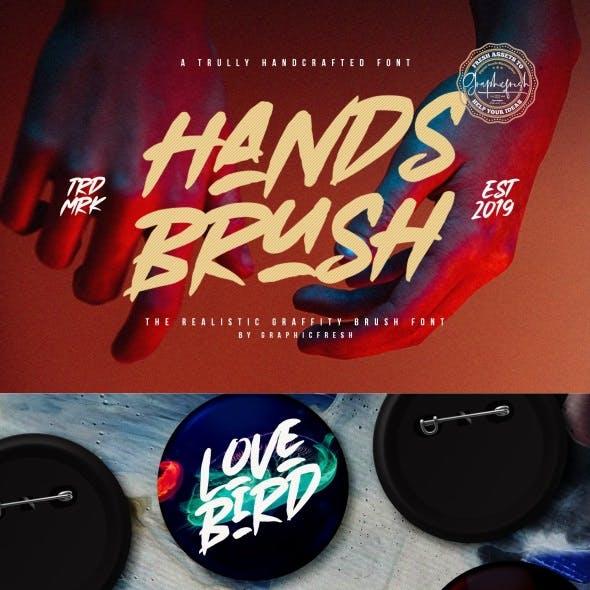 Hands Brush – Strong Urban Brush Font