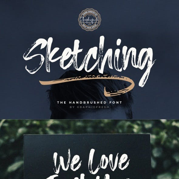 Sketching – The Handbrushed Typeface