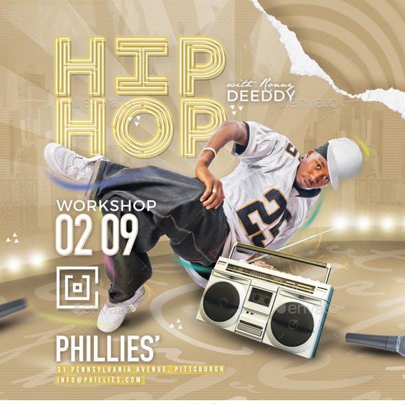 Hip Hop Workshop Flyer