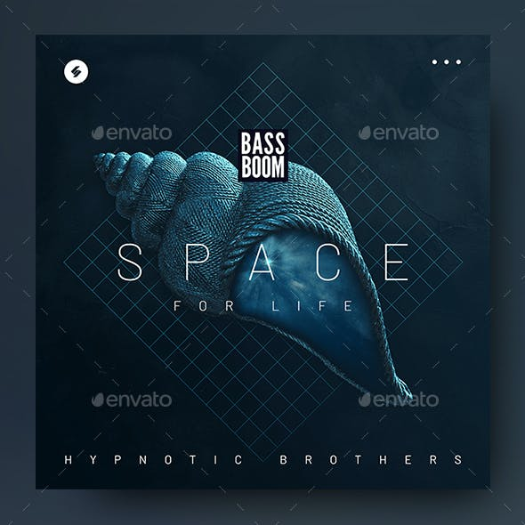 Space For Life – Music Album Cover Artwork / Video Thumbnail Template