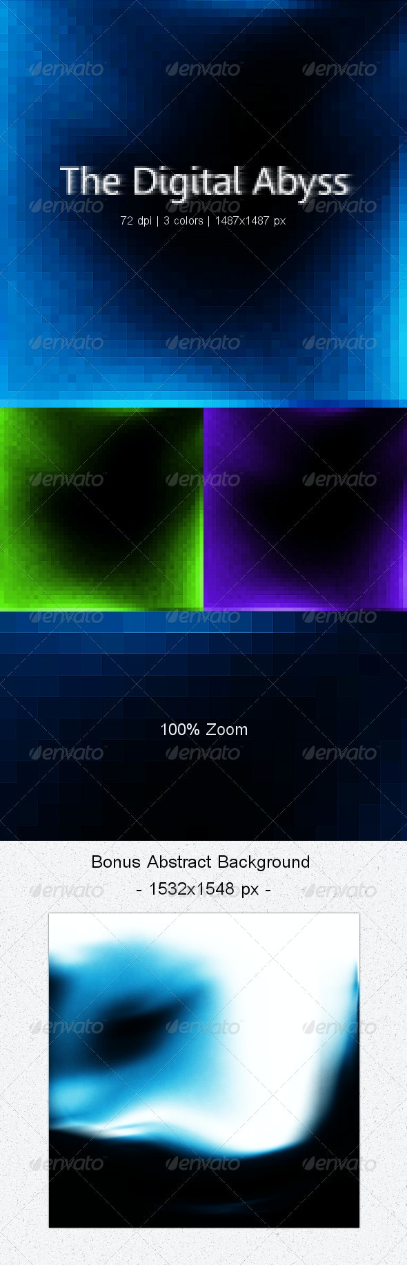The Digital Abyss - Background - Abstract Backgrounds