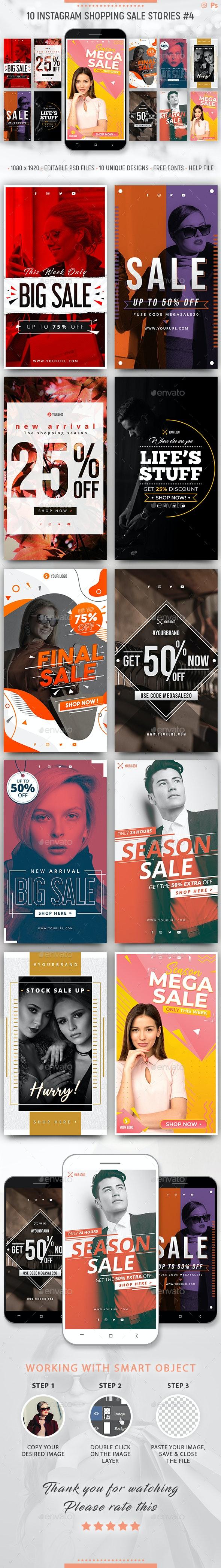 Instagram Sale Stories - Social Media Web Elements