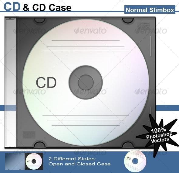 CD & CD Case - Normal Slimbox - Discs Packaging