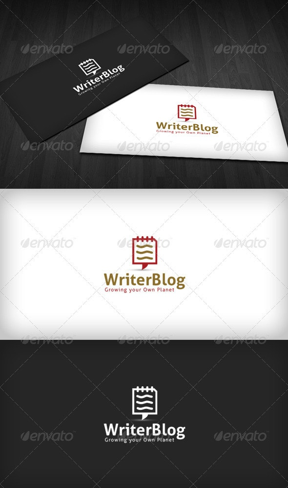 Writer Blog Logo - Symbols Logo Templates