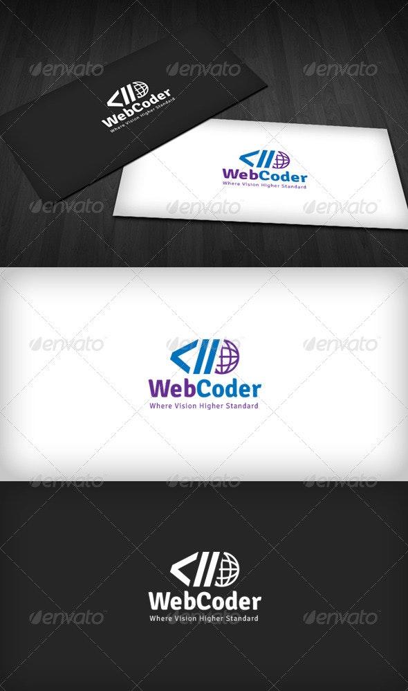 Web Coder Logo - Symbols Logo Templates