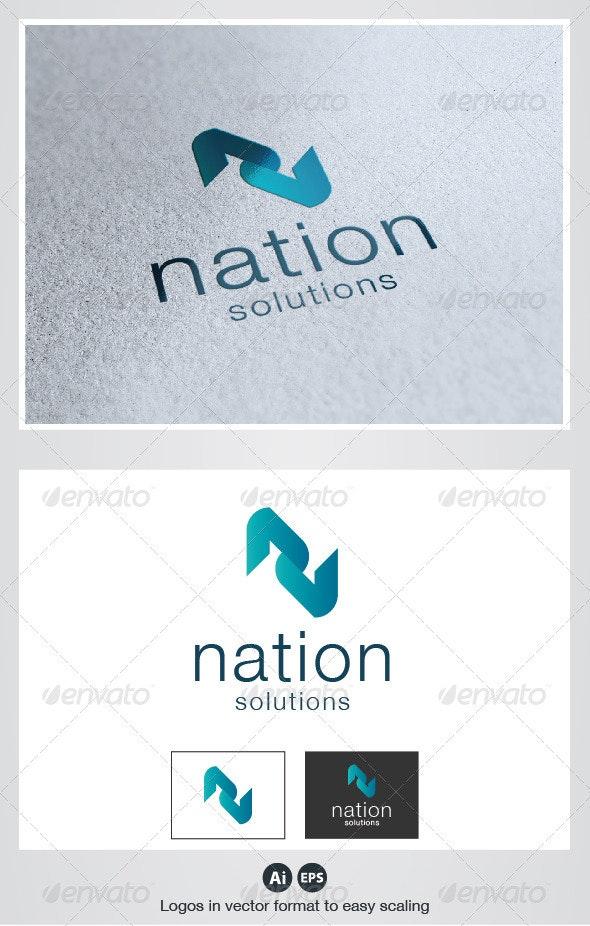 Nation N Letter Logo - Letters Logo Templates