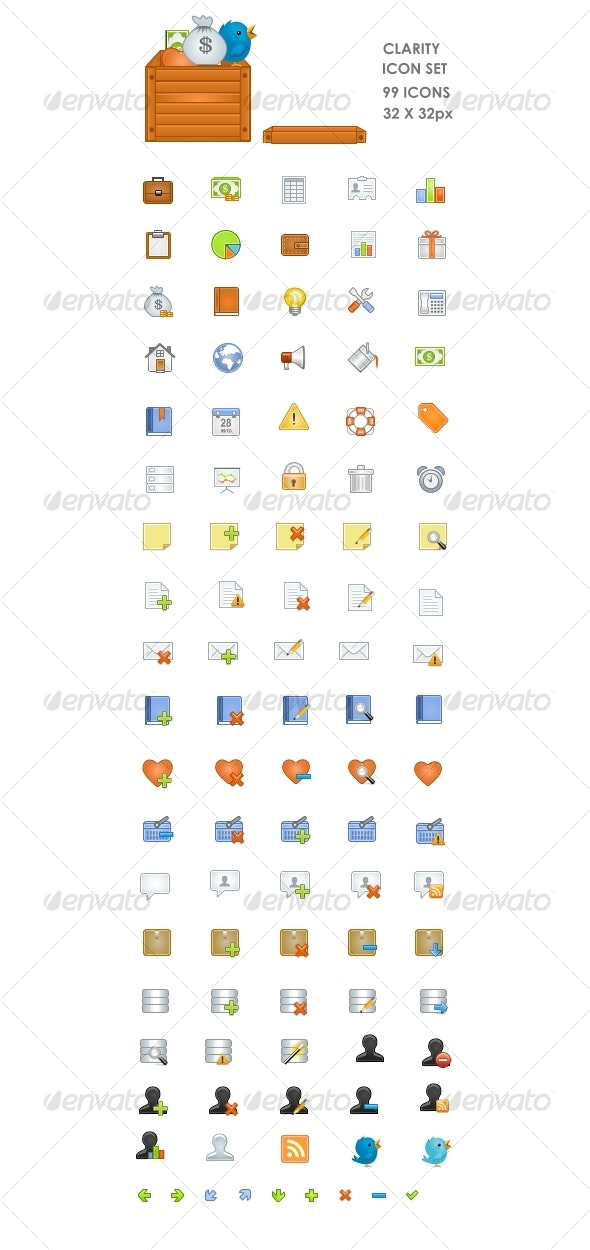 Clarity  ICON SET - Web Icons