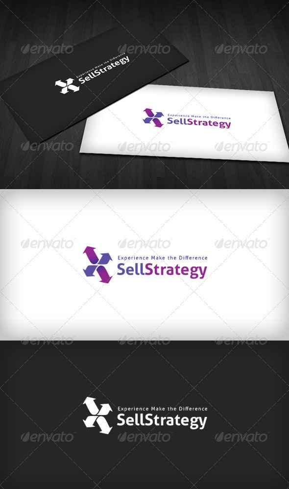 Sell Strategy Logo - Vector Abstract