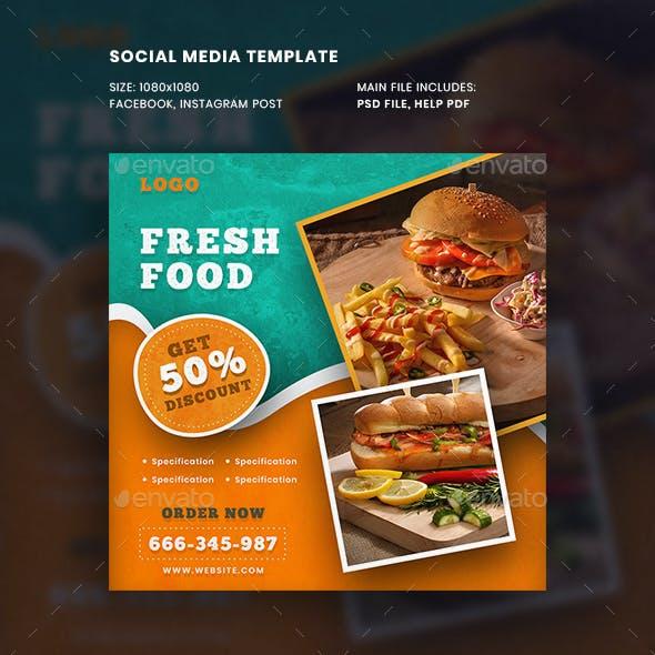 Food Promotional Social Media Post Template