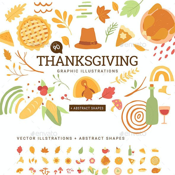 Thanksgiving Vector Graphics Pack