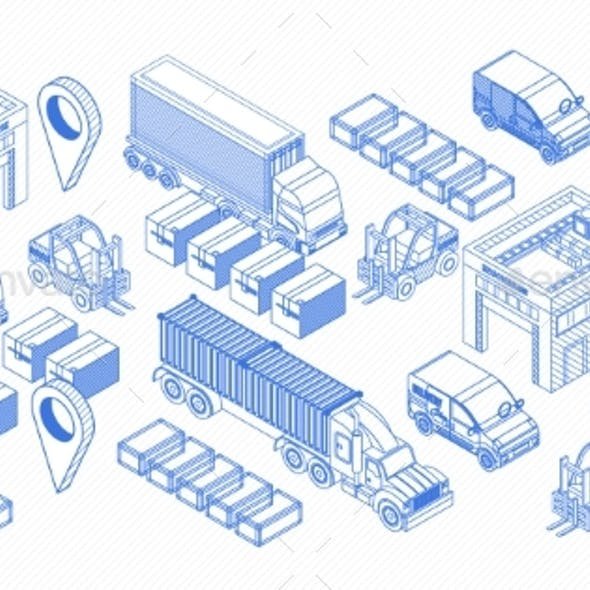 Icons for Delivery and Logistics