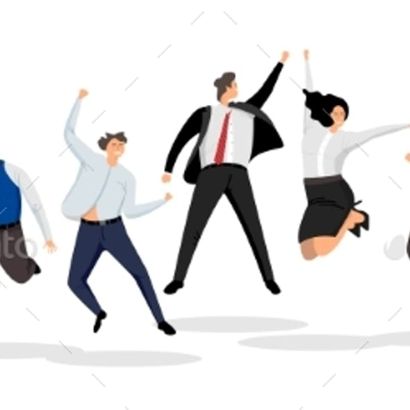 Jumping Business People