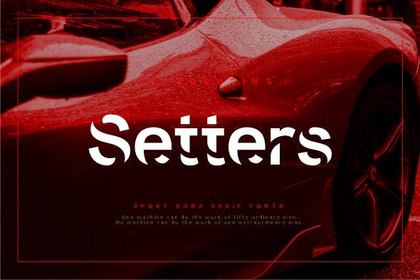 Setters - Sans-Serif Fonts