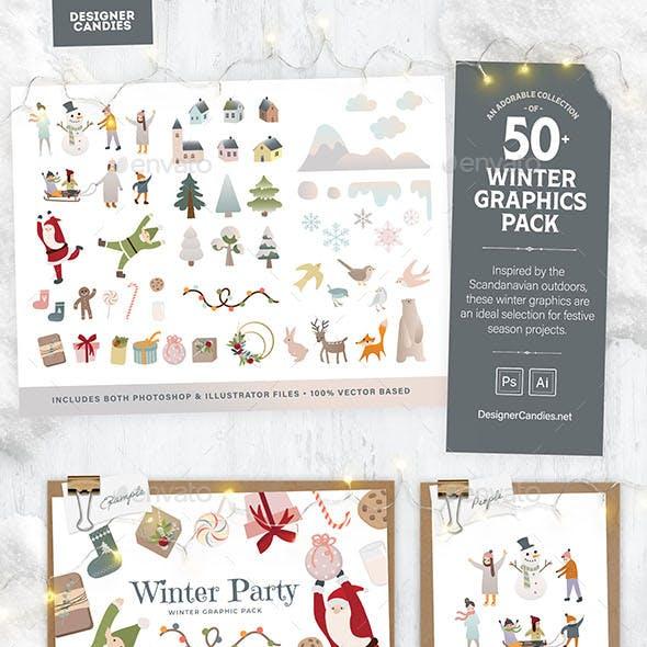 Winter Graphics & Vector Illustrations