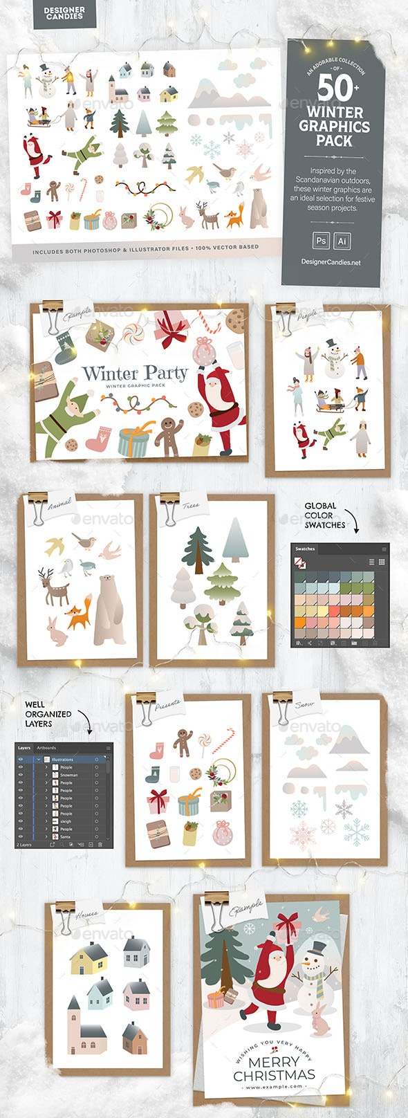 Winter Graphics & Vector Illustrations - Characters Illustrations