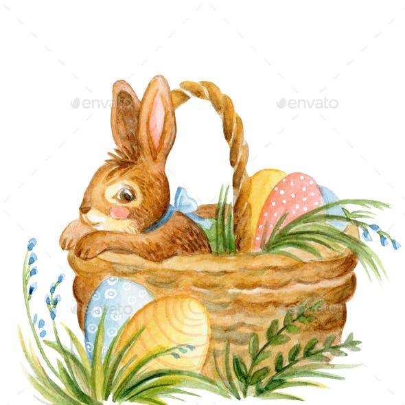 Rabbit watercolor illustration 4
