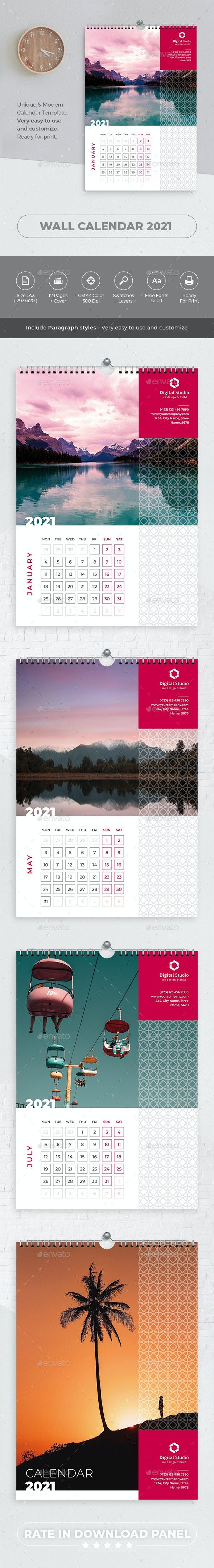 Wall Calendar 2021 - Calendars Stationery