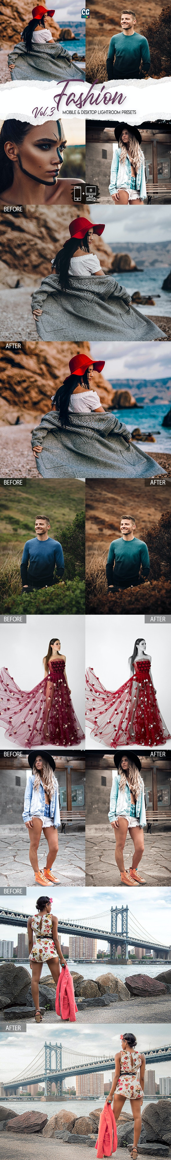 Fashion Lightroom Presets Vol. 3 - 15 Premium Lightroom Presets - Lightroom Presets Add-ons