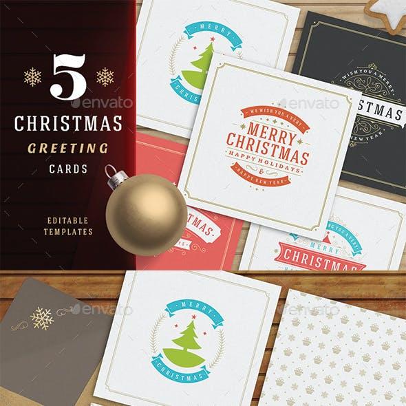 5 Christmas Greeting Cards