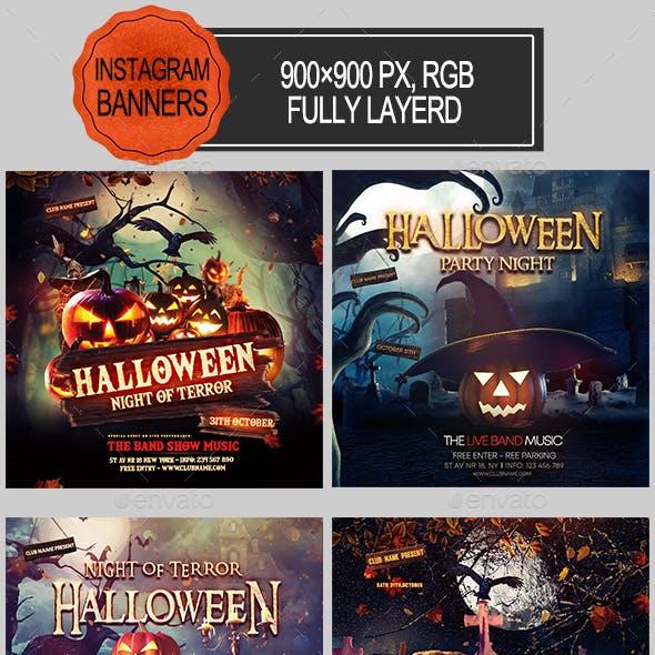 Halloween Instagram Banners