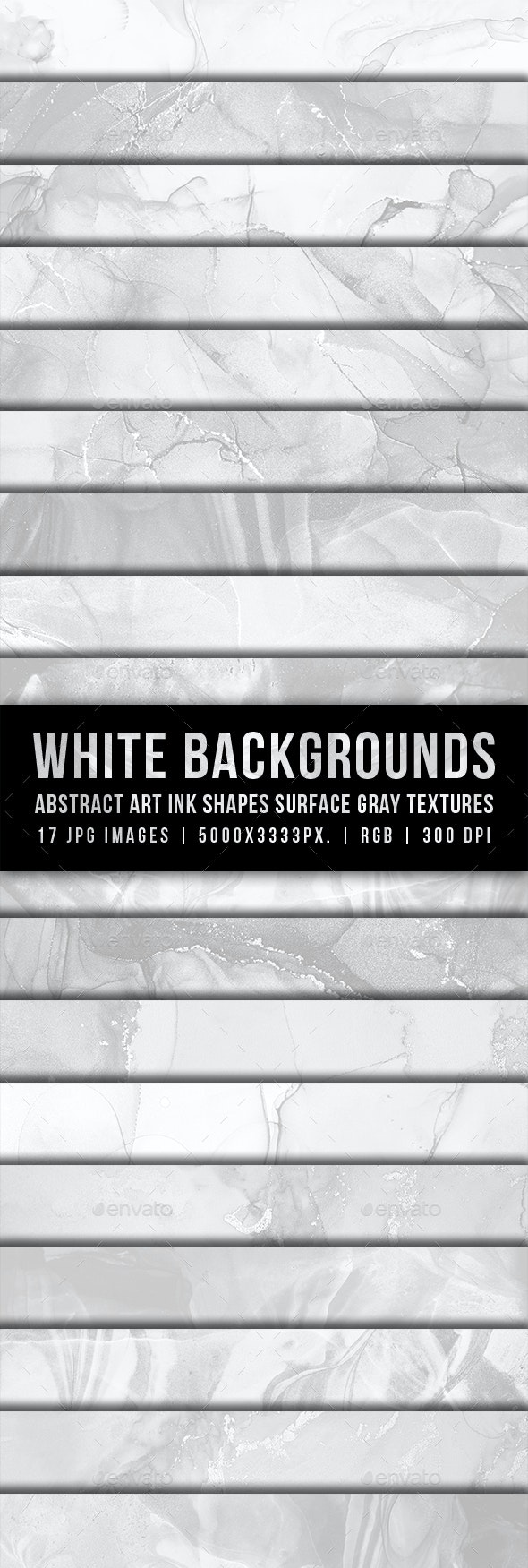White Backgrounds Abstract Art Ink Shapes Surface Gray Textures - Abstract Backgrounds