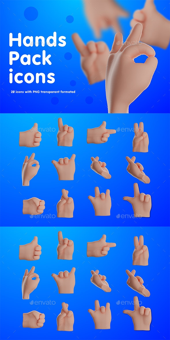 Hands Icons Pack - Objects Icons