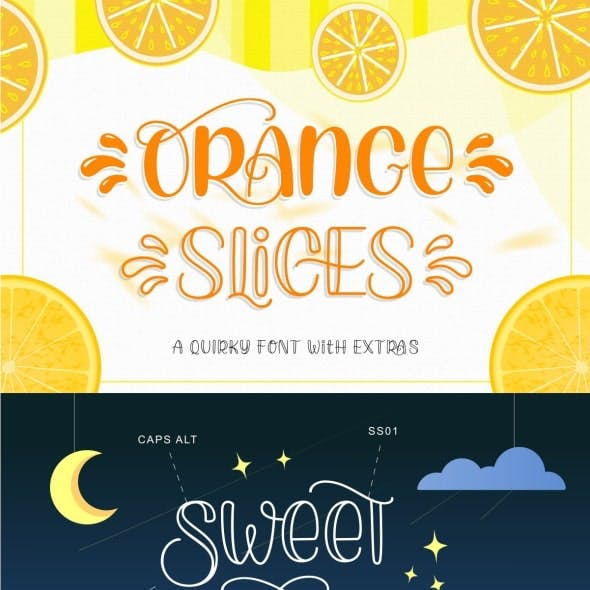 Orange Slices | Quirky Font