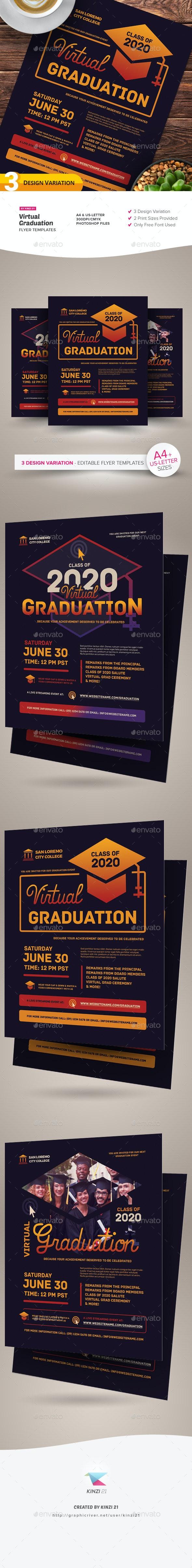 Virtual Graduation Flyer Templates - Miscellaneous Events