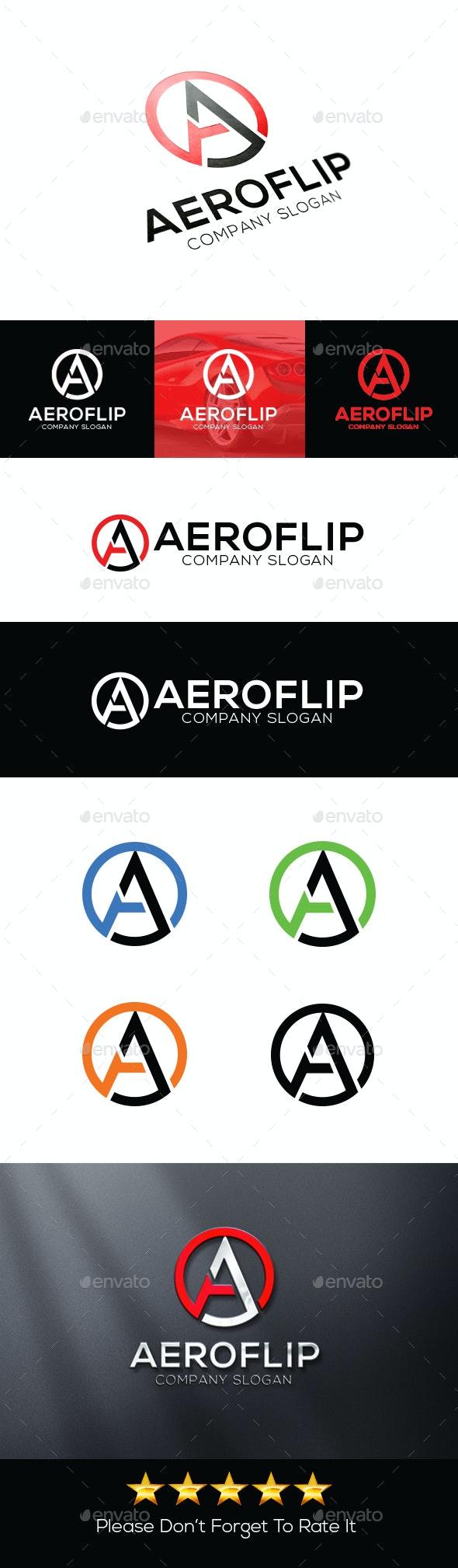 Aeroflip - Letter A Logo - Letters Logo Templates