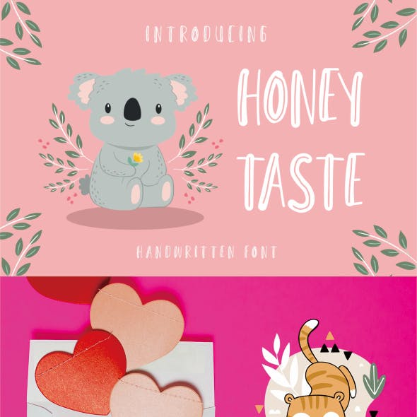 Honey Taste - Cute Handwritten Font