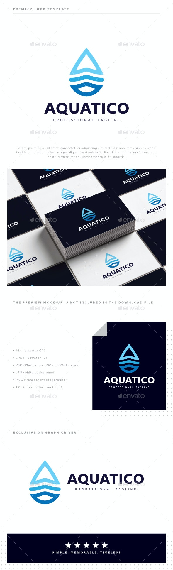 Aquatico Logo - Symbols Logo Templates