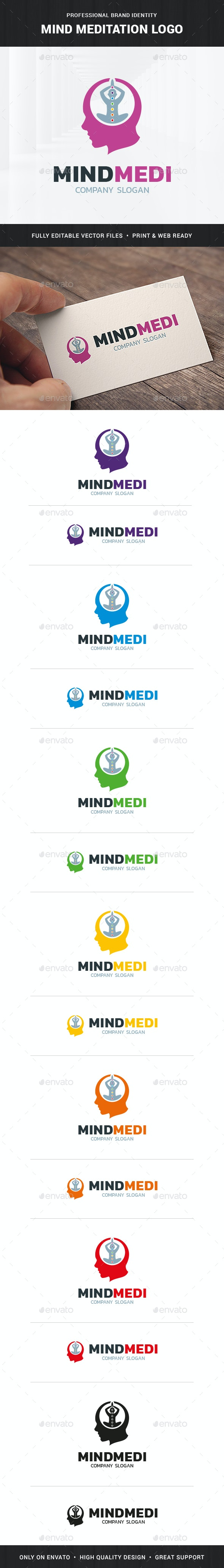 Mind Meditation Logo Template - Humans Logo Templates