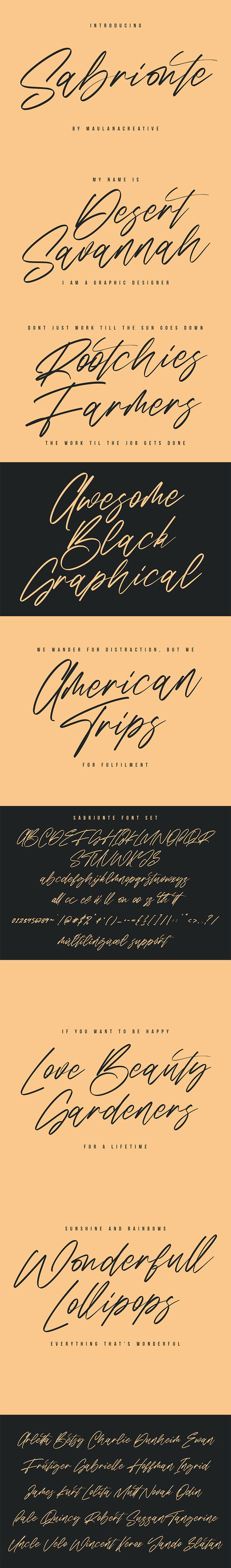 Sabrionte Script Font - Script Fonts
