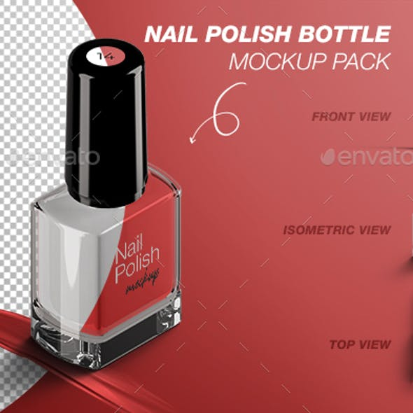 Nail Polish Bottle Mockup Pack