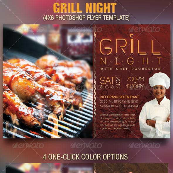 Grill Night Flyer Template