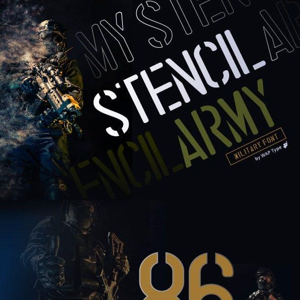stencil army | military font