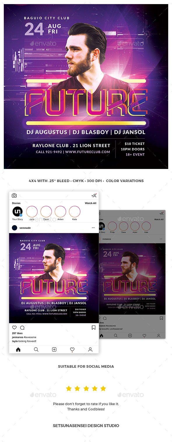 Future Flyer - Clubs & Parties Events
