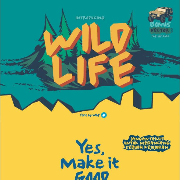 wild life | abstrack font