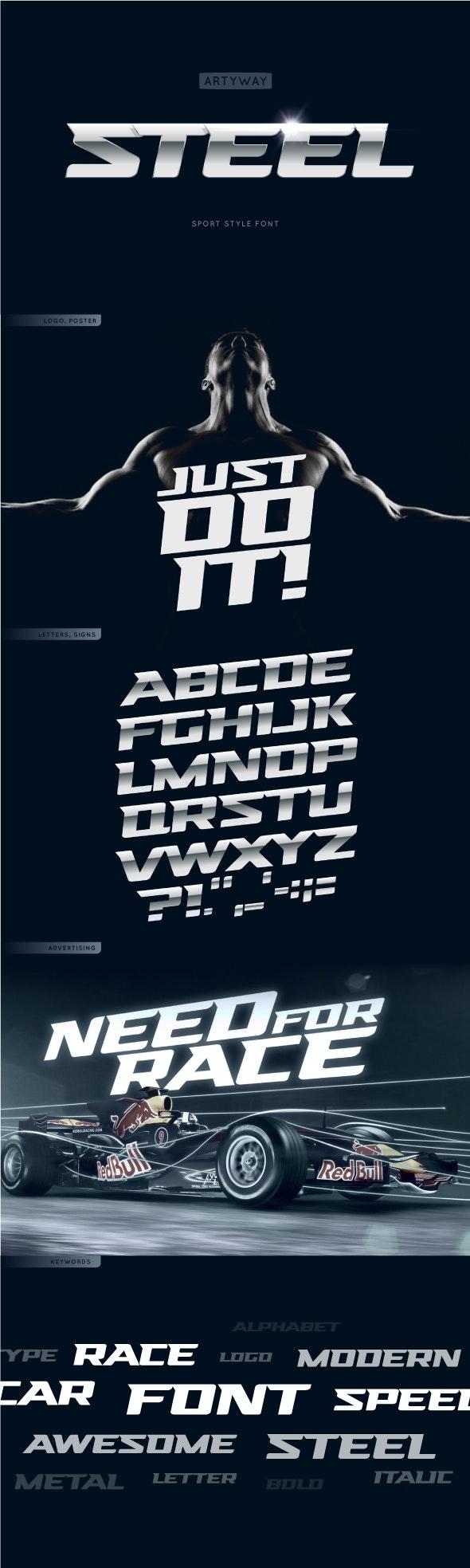 Headline Steel Font - Miscellaneous Sans-Serif