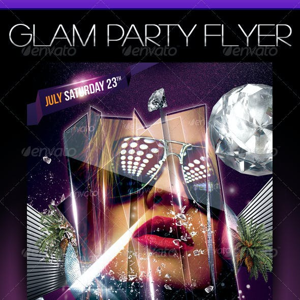 Glam Party Template Flyer