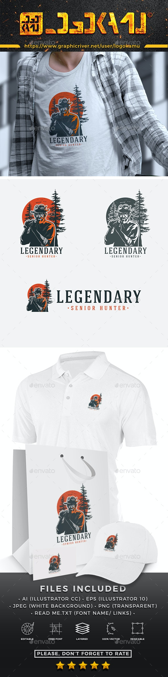Legendary Old Hunter - Nature Logo Templates