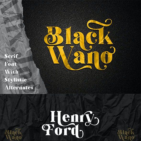 Black Wano - Retro Soft Serif Font