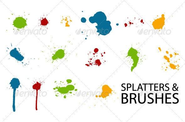 Vector Splatter - Decorative Symbols Decorative