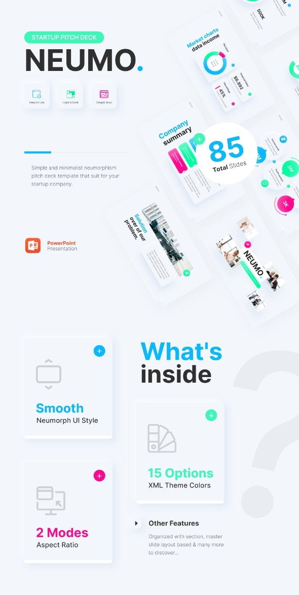 Neumo Start Up PowerPoint Presentation Template Template Fully Animated - Business PowerPoint Templates