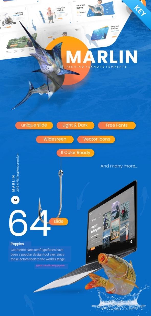 Marlin - Fishing Keynote Template Presentation - Creative Keynote Templates