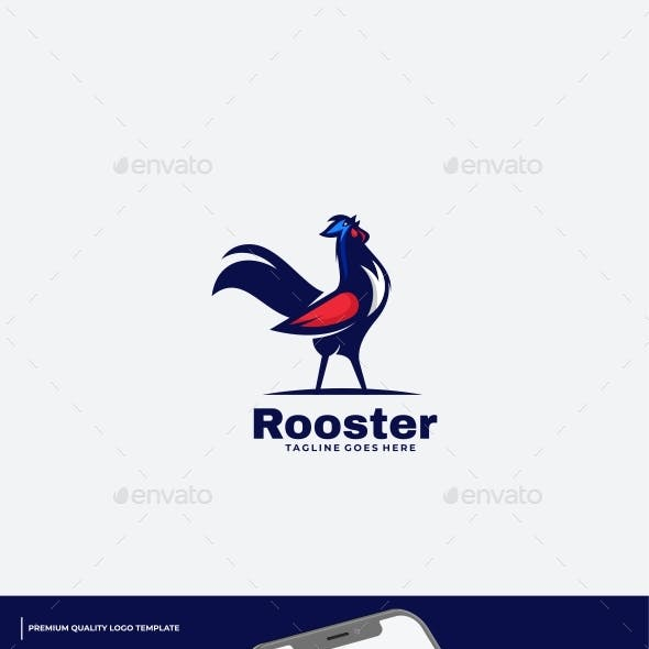 Rooster Mascot Color Logo Template