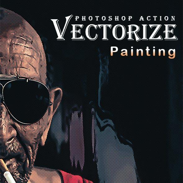 Vectorize Painting Photoshop Action